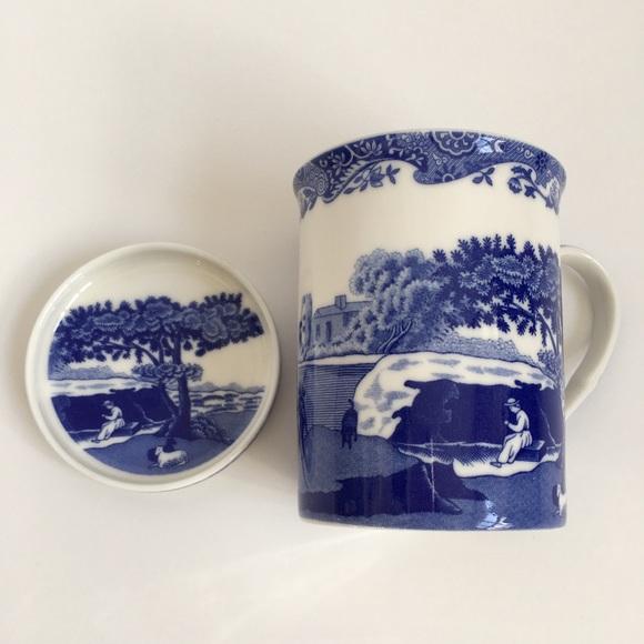 Spode Blue Italian Mug and Coaster Set